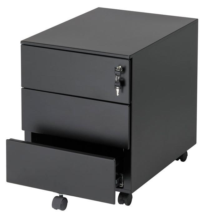 Nl03 verrijdbaar ladeblok met 3 laden timmer kantoormeubelen for Ladeblok 2 laden